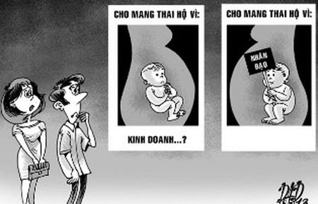 Mang thai hộ vì mục đích thương mại bị phạt đến 10 triệu đồng