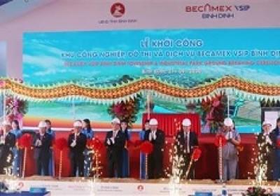 平定省Becamex VSIP工业、小区和服务业园区正式动工兴建 9月27日上午,越南政府常务副总理张和平出席平定省Becamex