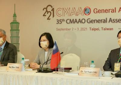 台灣總統出席「第35屆亞洲暨大洋洲醫師會聯盟大會」